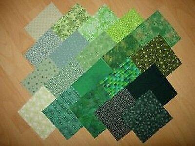 lot de 20 coupons  tissu patchwork verts