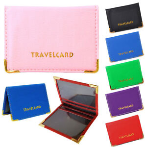 Leather Oyster Travel Card Bus Pass Rail Card Holder Wallet Cover Case UK Seller