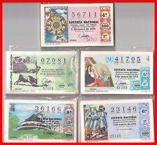 LOTE 5 AÑOS COMPLETOS LOTERIA NACIONAL DEL SABADO 1970,71,72,73,74