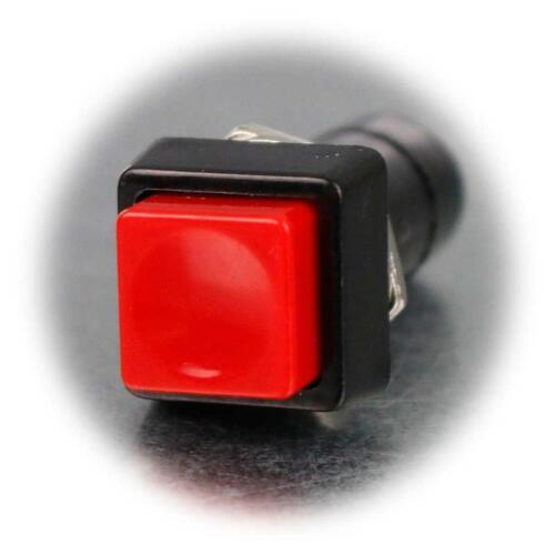 10x Drucktaster eckig rot 17x40mm 1-polig Push-ON Taster Scließer