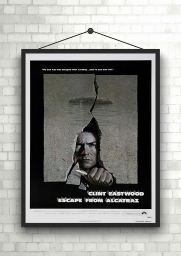Clint Eastwood Escape From Alcatraz Movie Poster Art Print A0 A1 A2 A3 A4 Maxi