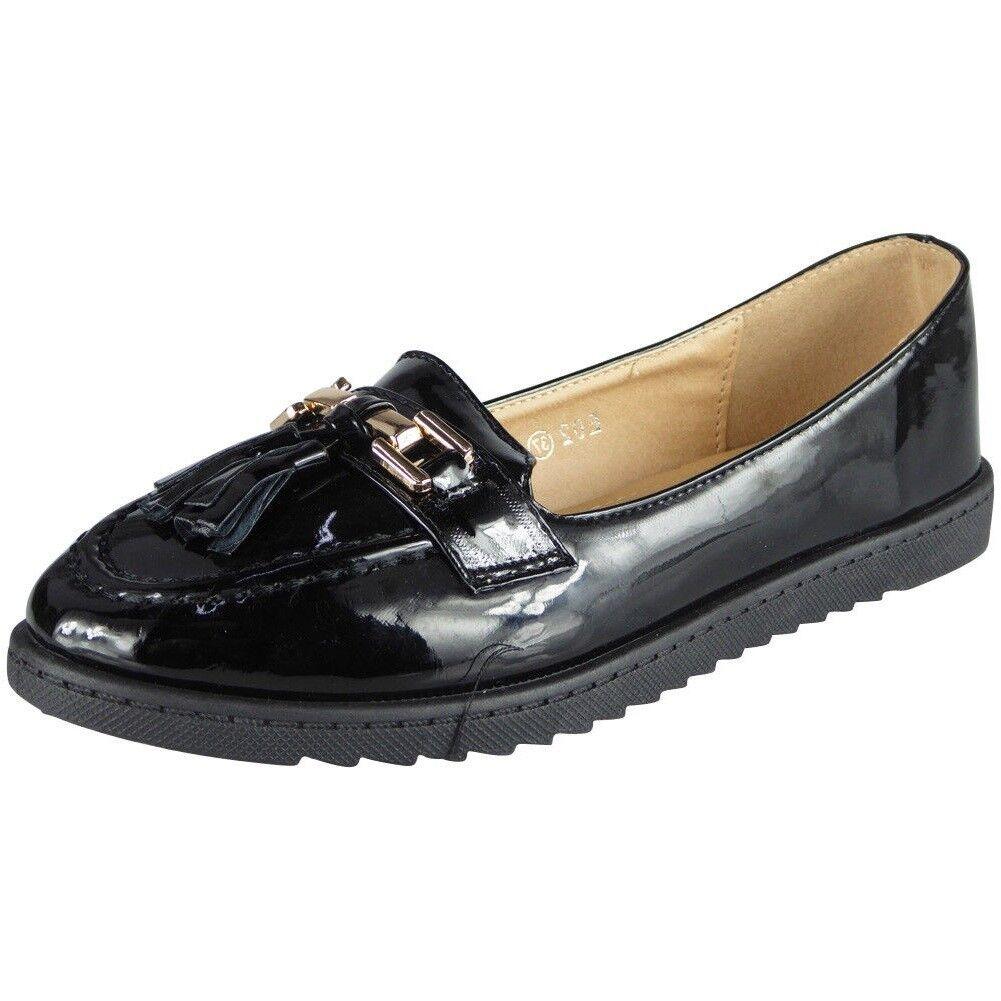 0c04d73ea0d Womens Comfy Flat Loafers Ladies New Tassel Casual Slip On Work ...