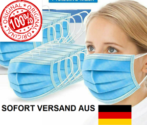 EN14683 CE - Gesichmaske 3-lagig Maske Mundschutz Schutzmaske Atemmaske Einweg