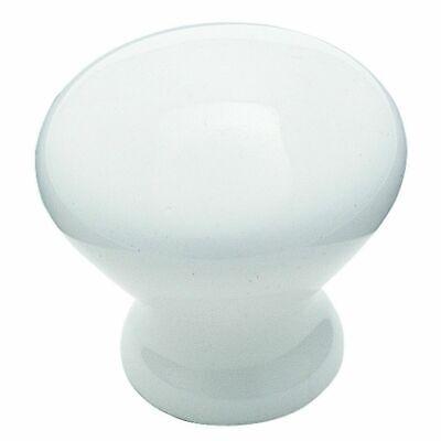 "Amerock BP705-30 White 3//4"" Porcelain Cabinet Knob Pulls with Gold Stem"