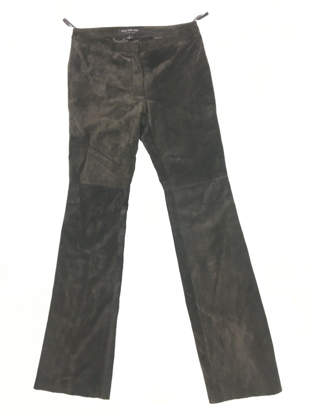 Andrew Marc New York Women's Brown Suede Leather Dress Pants Size 4 x 35