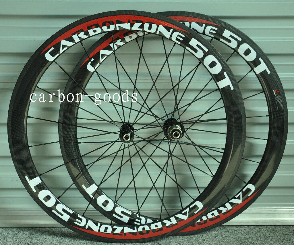 700C 3k Glossy   decals Full Carbon Road Bike 50mm Tubular bicycle wheelset 21mm