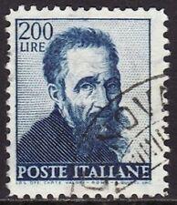 ITALIA 1961 - MICHELANGIOLESCA - FILIGRANA STELLE I TIPO - L. 200 - USATO