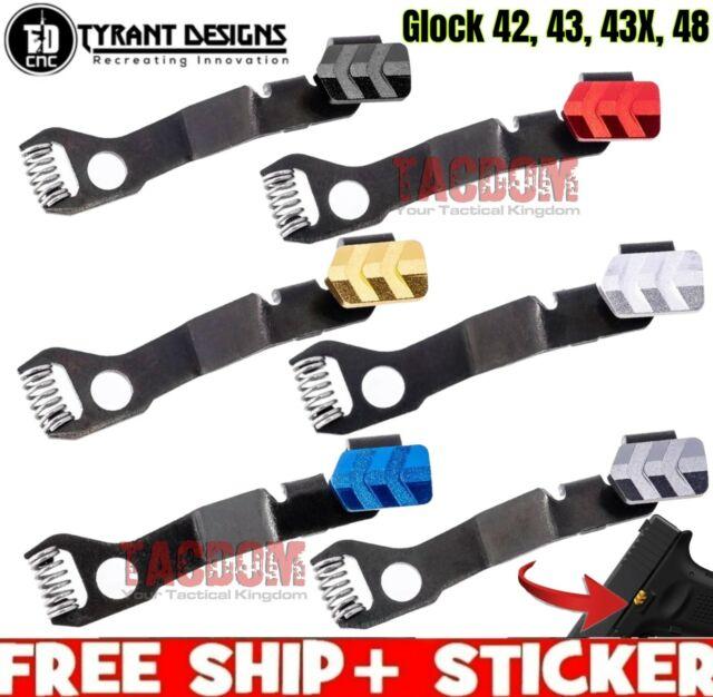 Tyrant Designs Extended Magazine Billet Aluminum Release fr Glock 43 Mag EMR 9mm