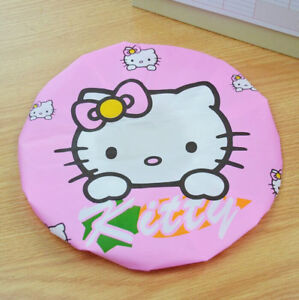 Woman EVA Waterproof Shower Bathing Hat Salon Hair Cap Cartoon Hello Kitty New