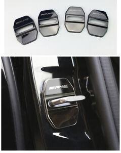 4PCS-Mercedes-Capot-protection-Acier-surfin-AMG-Embleme-Autocollant-Decoration