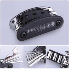 Bike Motorcycle Travel Repair Tool Allen Key #B Multi Hex Wrench Screwdriver Kit
