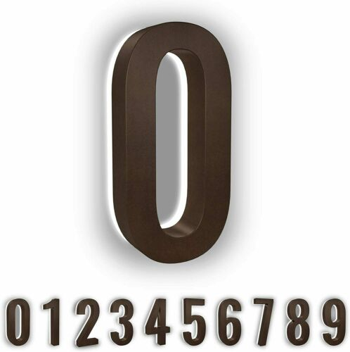 Durable ABS-Polymer 5-Inch Low-Voltage Backlit LED Address Numbers