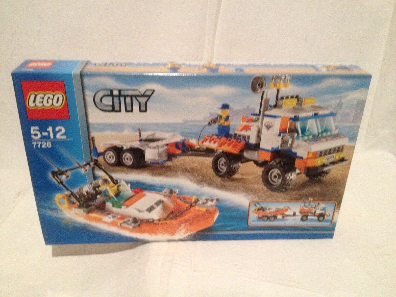 Lego City 7726 Coast Guard Camion Et Bateau Vitesse NEUF 1 édition