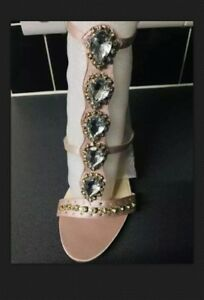 BNIB-Blush-Pink-Strappy-High-Heeled-Shoes-Size-5
