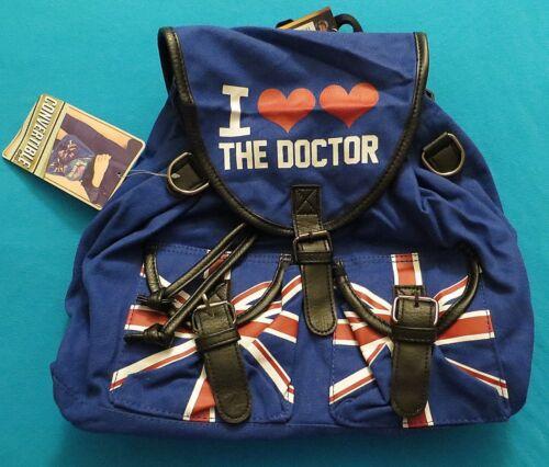 DOCTOR WHO I HEART HEART THE DOCTOR BACKPACK NEW LICENSED KNAPSACK