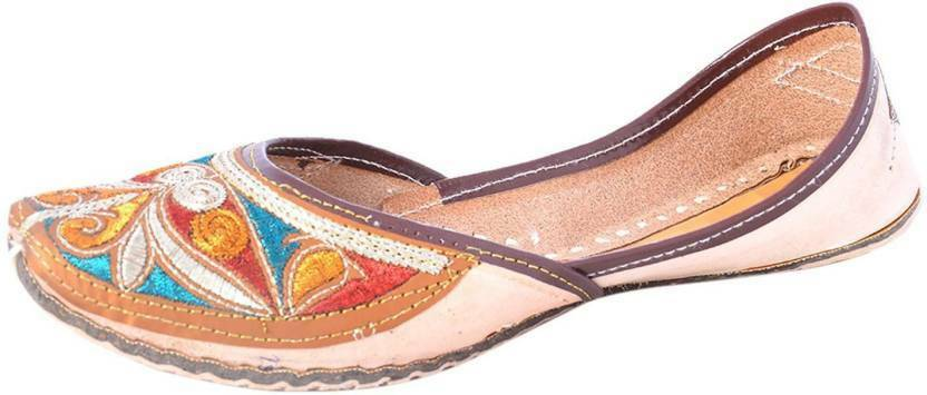 Women Leather Traditional Jutti Handmade Mojari Khussa Traditional Leather Punjabi FlipFlops. 4c5474