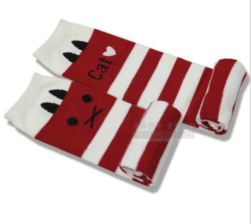 FREE Baby Leggings Leg Arm Warmers Cotton Stripe Cat Socks 1-8 years Children
