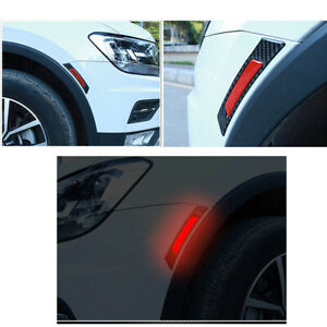 2x Car Door Edge Guard Reflective Sticker Tape Decal Safety Warning Accessory