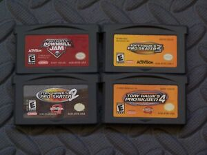 Lot Nintendo Game Boy Advance GBA Games Tony Hawk's Downhill Jam + ProSkater 234