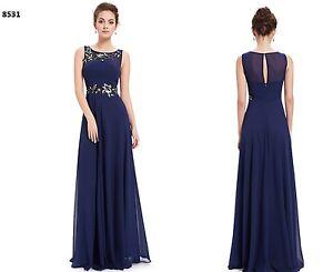 394041653 La foto se está cargando Vestido-boda-ceremonia-largo-fiesta-noche-gala -Talla-