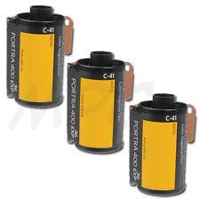 3 Rolls Kodak Portra 400 35mm Pro Color Negative Film (ISO-400) 36 Exp FRESH