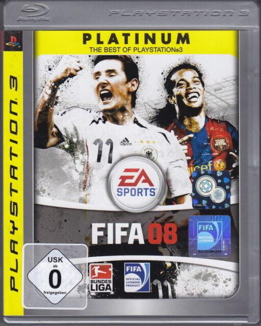 FIFA 08 (ps3 platinum) en box, avec mode d'emploi