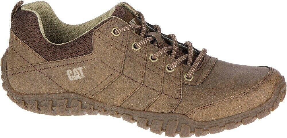 CAT CATERPILLAR Instruct P722311 Leather Turnschuhe Casual Trainers schuhe Mens New