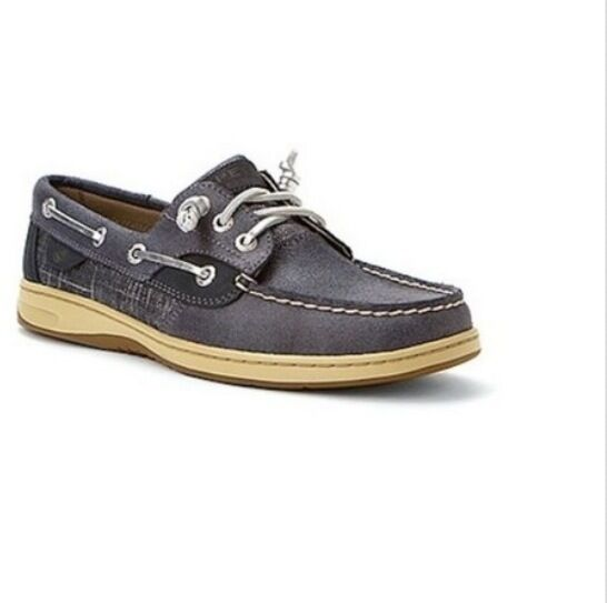 NEU Sperry Top-Sider METALLIC LINEN 3-EYE BOAT WOMEN'S  Größe 8