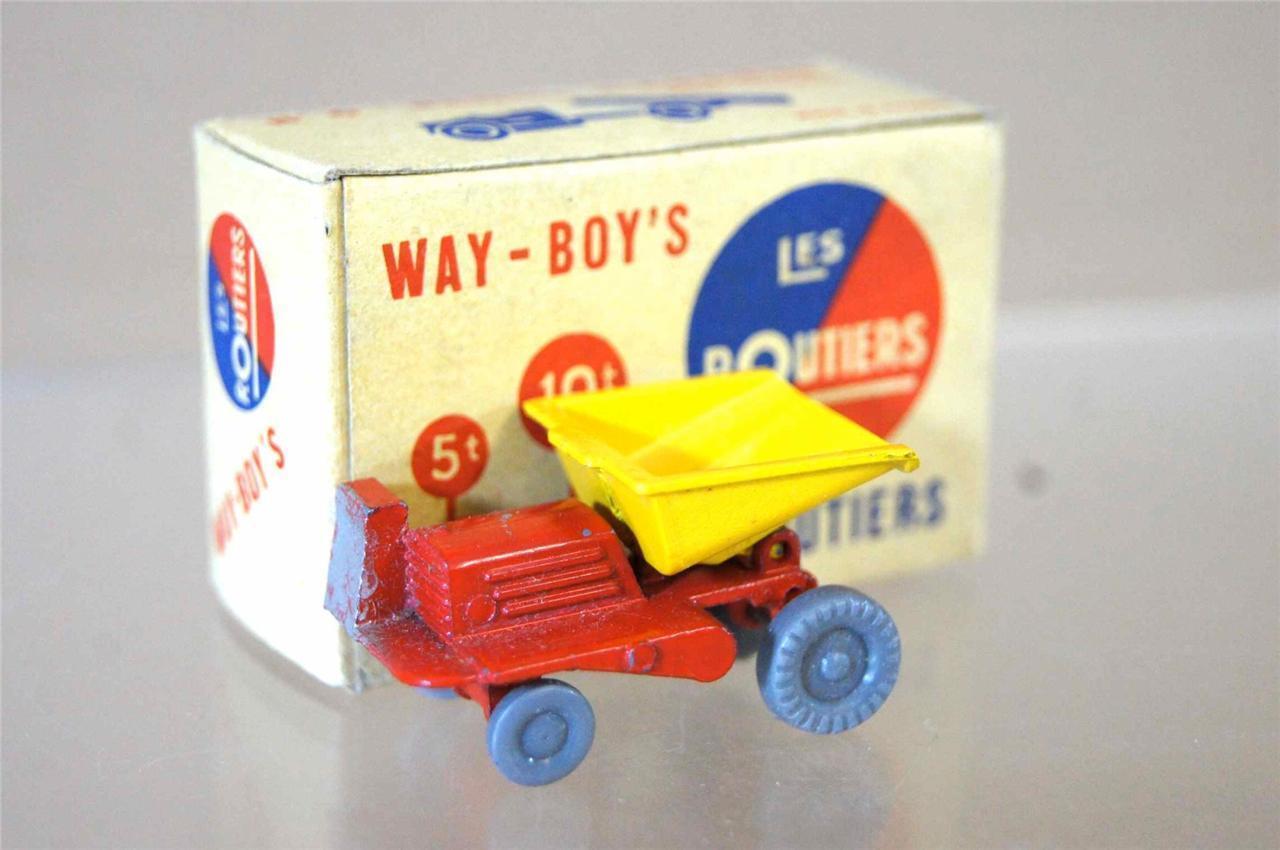 WAY-BOYS LES ROUTIERS No 6 MIDGET TOYS Co BENNE CARRIERE blueE TYPE 6 MIB ozc