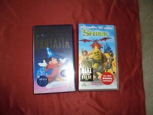 2 X Vhs Video Tapes Fantasia And Shrek Both In Good Condition Ebay