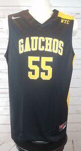 Nike-Gauchos-NYC-New-York-Authentic-Basketball-Jersey-Black-Unisex-Large-Rare