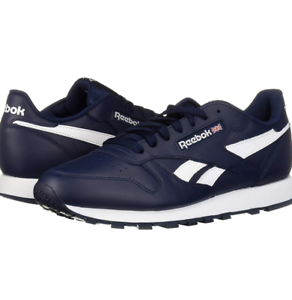 d5cf3eef36a98 Details about Reebok Men's Classic Leather Sneaker | Collegiate Navy/White  | 5 M US