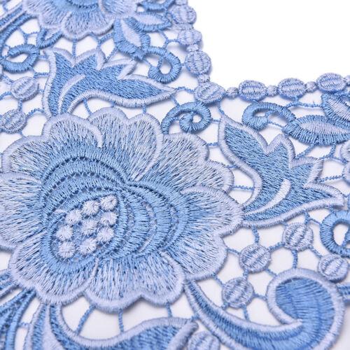Gestickte Blumenspitze Ausschnitt Kragen Trim Kleidung Nähen AppliqueL YR