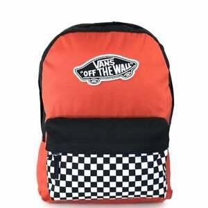 VANS Realm Backpack Paprika/Checkerboard VN0A3UI6ZKF1 VANS Schoolbag