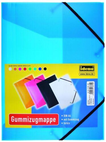 türkis Farbe DIN A4 Gummizugmappe