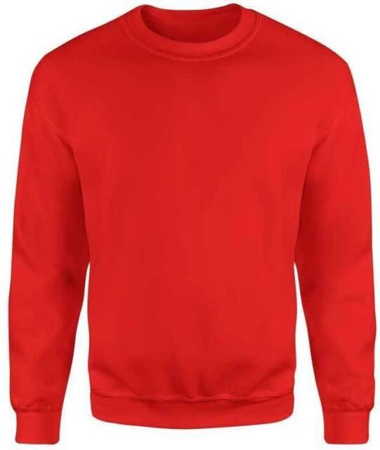 8f0d469186ec Ladies Men Women Red Plain FRUIT OF THE LOOM SWEATSHIRT JUMPER Sweater Size  S