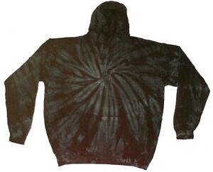 Tie-Dye-Black-Hooded-Sweatshirt-Pullover-Adult-S-3XL-80-Cotton-Long-Sleeve