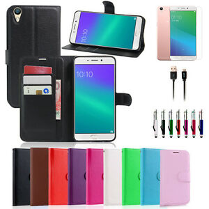 official photos 184cb 0733b Premium Leather Wallet Case Cover OPPO R9S Plus + Stylus&Cable + ...