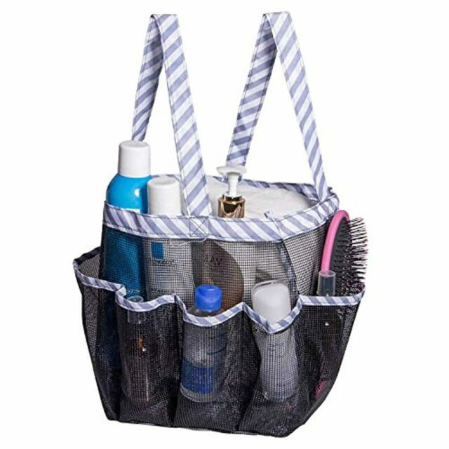 Attmu Portable Mesh Shower Caddy, College Dorm Essentials ...
