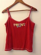 Tommy Jeans Tommy Girl tank top cami red Juniors XL X-large Hilfiger cotton