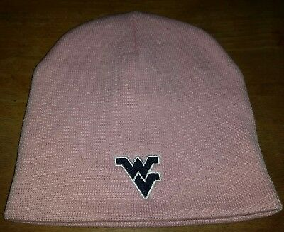 e658a00369b9ce NWT WVU West Virginia Mountaineers Beanie Toboggan Hat Adult Lightweight  PINK