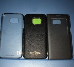Lot-Of-3pc-Samsung-Galaxy-S7-Kate-Spade-Original-Flip-original-Clear-Cases