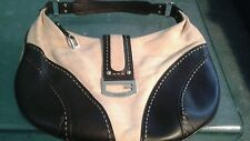 GUESS Ladies faux leather Canvas Cotton Large Hobo Tote Purse Handbag