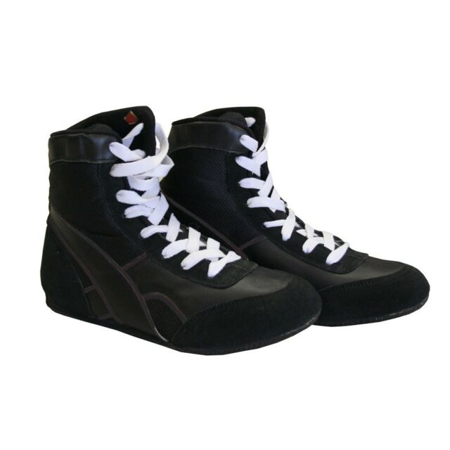 Boxing Shoes New Amber Black Nylon Low Top Sneakers