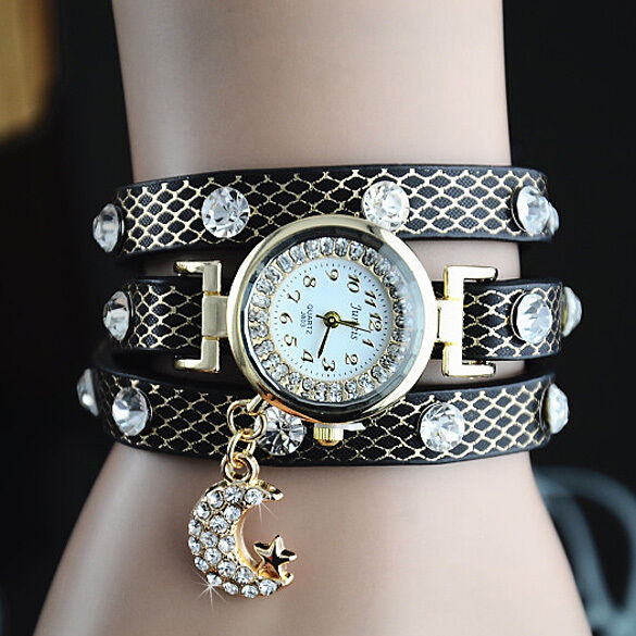 Ladies Rhinestone Watch Girl Gift Womens Designer Bracelet Diamond Gem Crystal