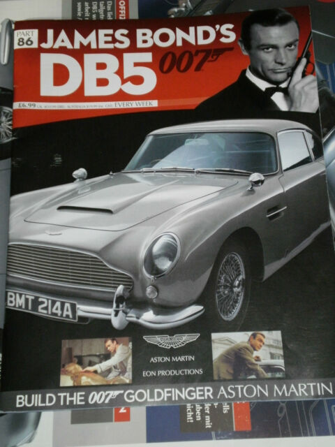 SCALE 1/8 KIT: DETAILED JAMES BOND 007 ASTON MARTIN DB5 GADGET CAR ALL 86 PARTS