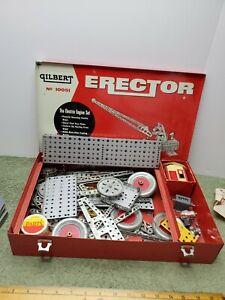 1933 VINTAGE A C GILBERT ERECTOR SET EARLY WOOD BOX