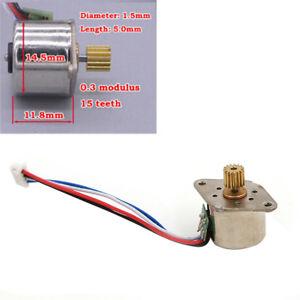 Micro-mini-15mm-motore-passo-passo-2-fase-motore-a-4-fili-motore-in-rame-ingr-B0