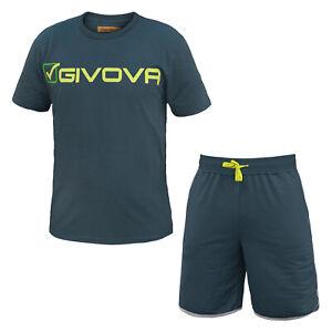 Completo-Uomo-GIVOVA-T-Shirt-e-Pantaloncino-Cotone-Art-G301
