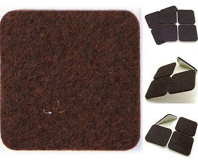 BROWN Furniture FELT Pads, 120mm x 120mm, X-LARGE Adhesive Wood Floor Protectors